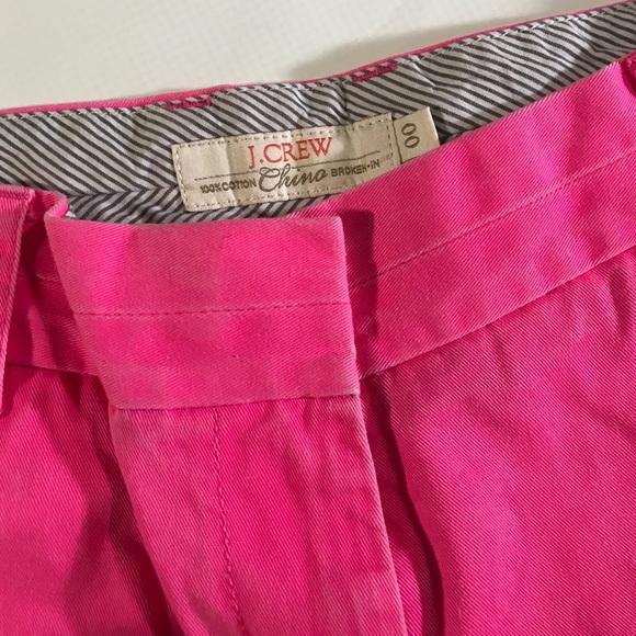 J. Crew Shorts - J.Crew Neon Pink Cotton Broken In Chino Shorts 00