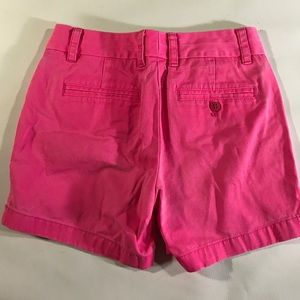 J. Crew Shorts - J.Crew Neon Pink Cotton Broken In Chino Shorts 00