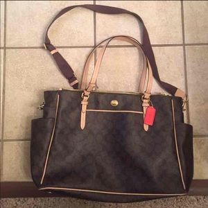 Final price Coach diaper bag