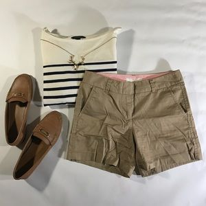 J.Crew Khaki 100% Cotton Chino Shorts sz 0 XS