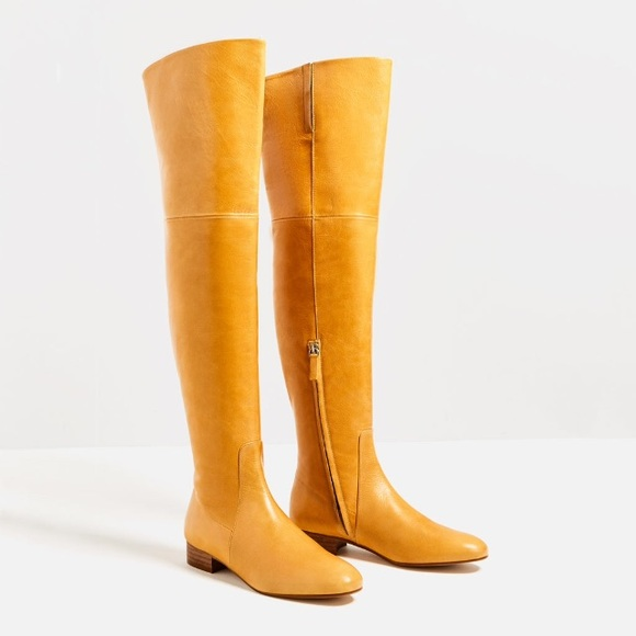 55% off Zara Shoes - 🚫SOLD🚫 ZARA yellow over knee boots NWT from ...