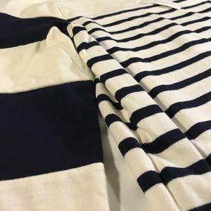 Banana Republic Tops - Banana Republic Navy White Striped Cotton Pullover