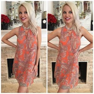 Dresses & Skirts - 🎉 HP Pretty in coral/lavender  lace up dress