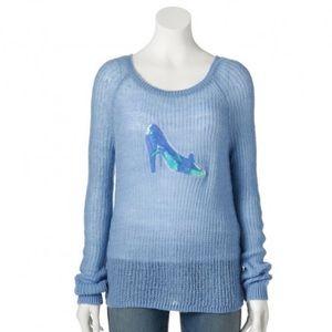 NEW Dusk Blue Glass Slipper Cinderella Sweater