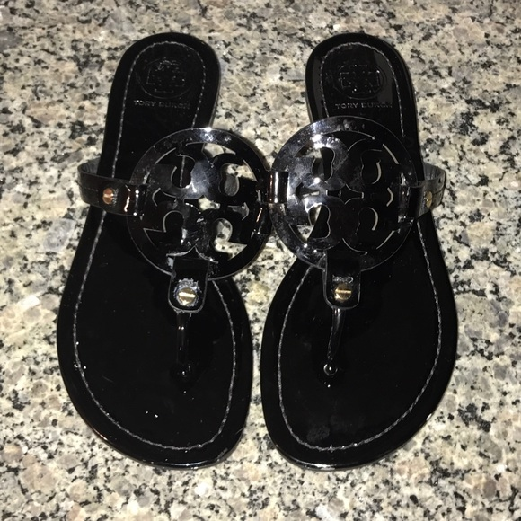 be6acdb6015fff Black Patent Leather Tory Burch Miller Flip Flops.  M 58895126f739bcde2d009ef7