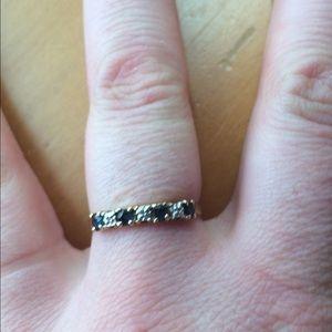 Jewelry - 🎉MAJOR SALE🎉10KGoldSize7.5 diamond/sapphire Ring