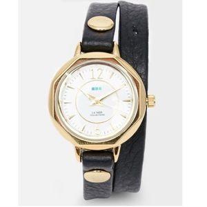 La Mer Accessories - Leather Wrap Watch