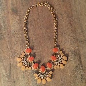 J.Crew Orange Crystal Necklace