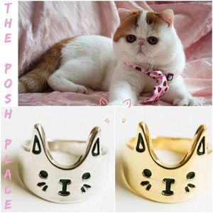 Jewelry - 😺 Kitty Face Rings 😸 Gold or Silver 😸