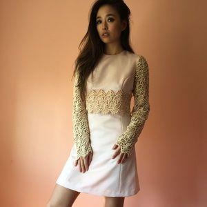 Vintage Embellished Lace Mini Dress
