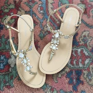57acf316e3a24 Anthropologie Shoes - BHLDN Tulum jeweled beach wedding flat sandals 6.5