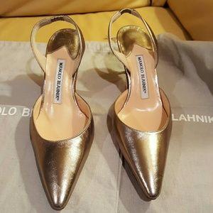 Manolo Blahnik Shoes - Manolo Blahnik Carolyne Mid-heel Napa