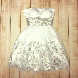 Blondie Nites Dresses & Skirts - White and silver dress
