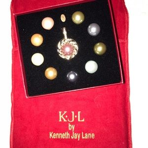 Kenneth Jay Lane Jewelry - Kenneth Jay Lane Simulated Pearl Enhancer Set