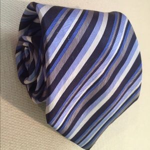 Stefano Ricci Other - Stefano Ricci Blue, Silver, Black Striped Tie