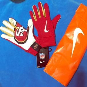 🏅 🏍 Nike Unisex NFL gloves red
