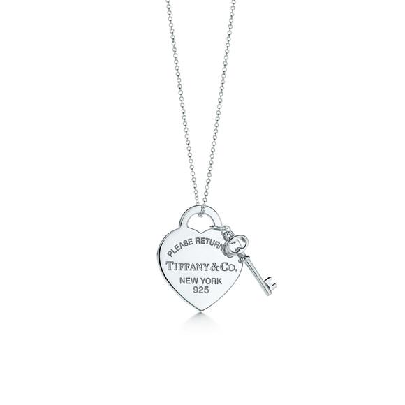 47deb5366 Tiffany & Co. Sterling Silver Heart & Key Necklace.  M_588961e4c28456c2f700df2c