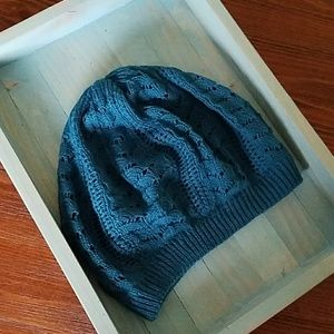 Accessories - Teal crochet slouchty  beanie