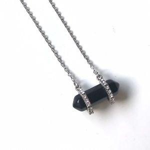 Bondhu Jewelry - Black Floating Onyx Stone Necklace