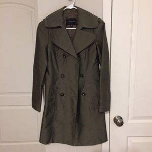 Banana Republic Olive Green Trench Coat