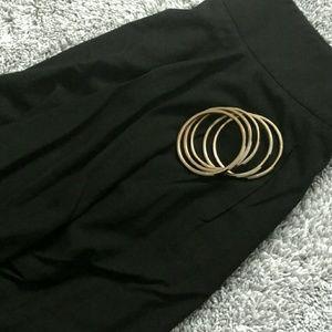 Emporio Armani Dresses & Skirts - EMPORIO ARMANI Classic Black Side Drape Skirt