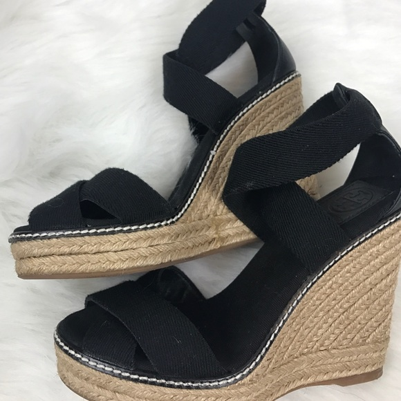 190e2474a77 Tory Burch Adonis Wedge Espadrilles Ankle Sz 6