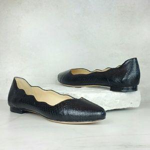 Alexandre Birman Shoes - ALEXANDRE BIRMAN scalloped snakeskin ballet flats
