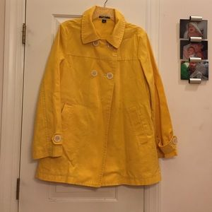 Gap cotton canvas double breasted coat