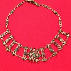 Custom made jeweled necklace