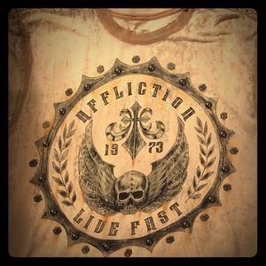 Affliction Other - Affliction Men's large tan tshirt