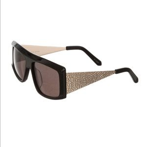 Karen Walker Accessories - Karen Walker Invictus Black Gold Sunglasses
