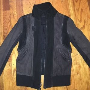 Nick + Campbell Jackets & Blazers - Nick + Campbell Suede Black and Purple Jacket