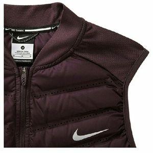 Nike Aeroloft Purple Down Running Vest