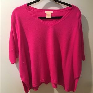 Sweet Romeo Sweaters - Hot Pink Oversized Sweater!
