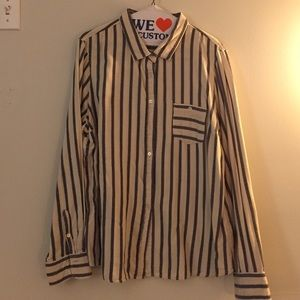 J. Crew Factory Tops - J. Crew Factory Striped Button Down