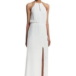 NWT Parker White Chiffon Maxi Dress