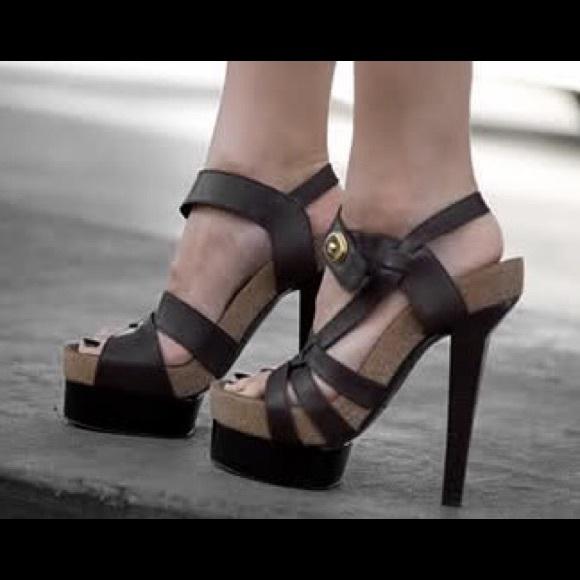5005251c1c73 Balenciaga shoes brown cork platform sandals poshmark jpg 580x580 Balenciaga  platform