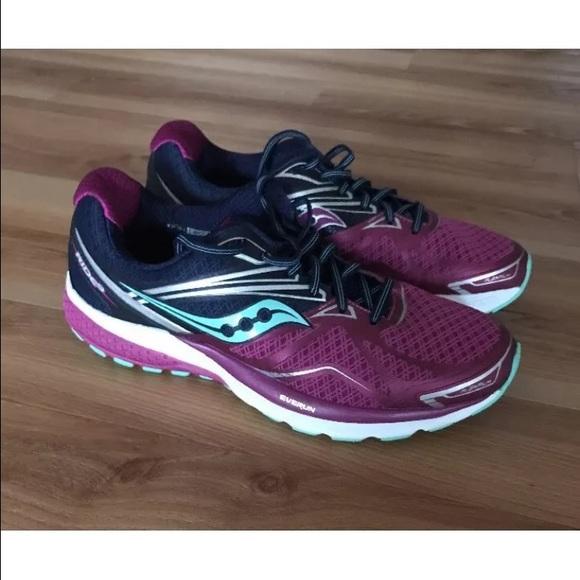 🆕Saucony Ride9 Everun women s 10 shoes red 7250e8e88d