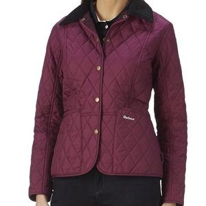 Barbour Jackets & Blazers - Barbour Prism Pantone Quilted Jacket Purple Pink 8