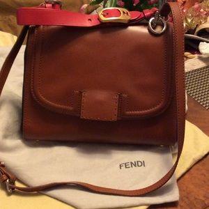 Authentic Leather Fendi w/detachable Long handle