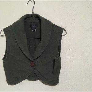 Frenchi Tops - Dark Green Short Vest
