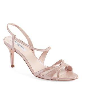 LK Bennett Shoes - LK Bennett London Lourdes Metallic Rose Sandal