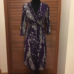 Motherhood Maternity Dresses & Skirts - Motherhood Maternity purple & white spot dress L