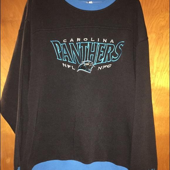 super popular 62d1c b1e96 Men vintage NFL Carolina Panthers sweatshirt xl