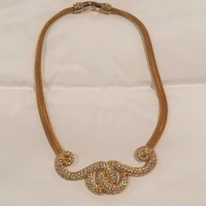NWOT Gold Rhinestone Necklace