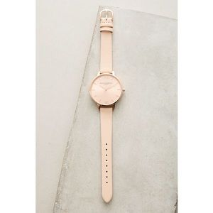 Anthropology Olivia Burton - Peachie Leather Watch