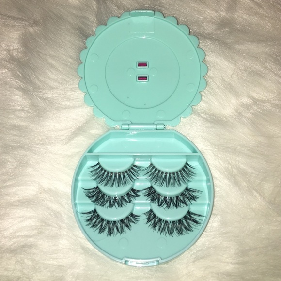 95555942b1 Makeup   Natural Eyelashes Set With Cute Lime Bow Tie Case   Poshmark