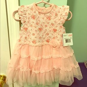 Little Me Other - Baby girl ruffle dress with matching headband