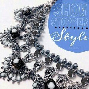 Karis' Kloset Jewelry - Jewelry | Floral silver statement necklace