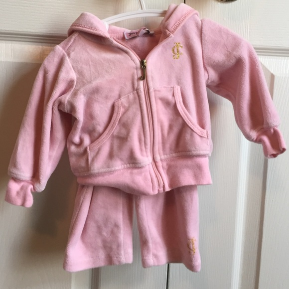 455e63727d Juicy couture baby pink velour tracksuit 3/6 month